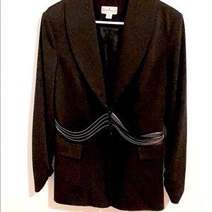 COPY - Patchington Women's Black Blazer Zipper Detail 10